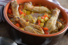 Chicken cassoulet Royalty Free Stock Image
