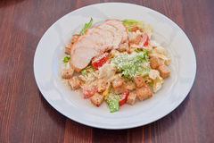 Chicken ceasar salad Royalty Free Stock Images