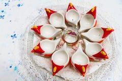 Chicken ceramic crockery Stock Image