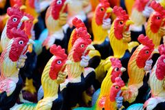 Chicken Ceramic Dolls royalty free stock image