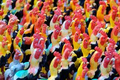 Chicken Ceramic Dolls stock photo