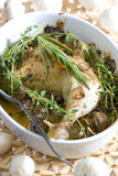 Chicken with champignons Royalty Free Stock Photography