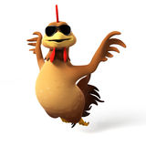 Chicken character Royalty Free Stock Images