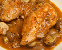 Chicken Chasseur Casserole Stew Royalty Free Stock Photos