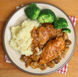 Chicken Chasseur Dinner Royalty Free Stock Photos