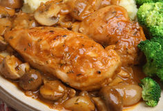 Chicken Chasseur Stew Dinner Stock Photos