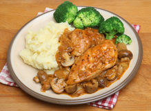 Chicken Chasseur Stew Dinner Plate Royalty Free Stock Image