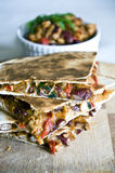 Chicken and cheese quesadillas Royalty Free Stock Photos