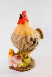 Chicken with chick. Statuette Royalty Free Stock Photos