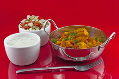 Chicken and chickpea curry Royalty Free Stock Image