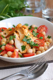Chicken and chickpea salad Stock Photography