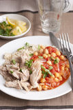Chicken with chickpeas Stock Photography