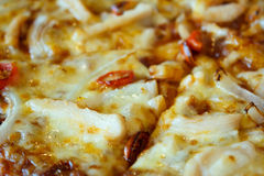 Chicken with chili pizza Royalty Free Stock Image