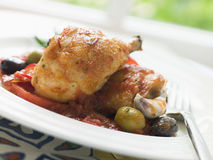 Chicken Chilindron- Pollo al Chilindron Stock Images