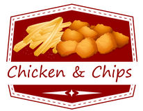 Chicken and chips Stock Image