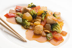 Chicken chop suey Royalty Free Stock Images
