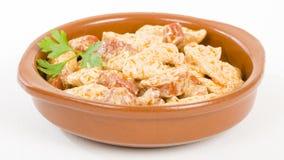 Chicken & Chorizo Stock Photo