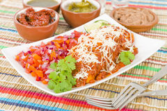 Chicken & Chorizo Enchiladas Royalty Free Stock Image