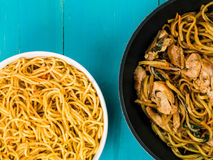 Chicken Chow Mein With Egg Noodles Royalty Free Stock Photography