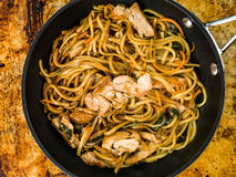 Chicken Chow Mein With Egg Noodles Royalty Free Stock Images