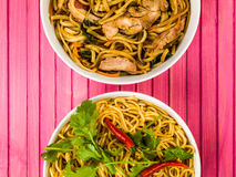 Chicken Chow Mein With Egg Noodles Stock Photography