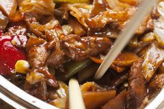 Chicken chow mein Stock Image