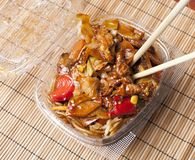 Chicken chow mein Stock Photo