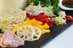 Chicken Chow Mein Ingredients Stock Image