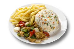 Chicken chow mein a popular oriental dish available at chinese take outs. Chinese food. Royalty Free Stock Images