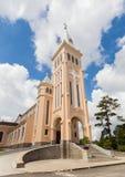 Chicken church in Da Lat City, Vietnam. Royalty Free Stock Photos