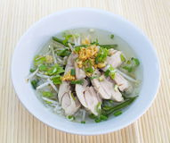 Chicken clear noodle soup Royalty Free Stock Image