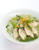 Chicken clear noodle soup Royalty Free Stock Photography