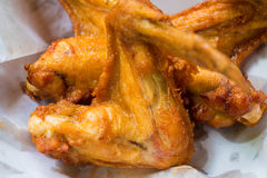 Chicken. Close up Fried Chicken in a basket Stock Images