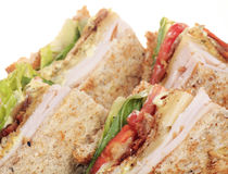 Chicken club sandwich isolated Stock Photos