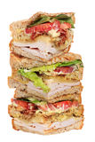 Chicken club sandwich isolated Royalty Free Stock Photos