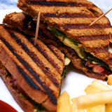 Chicken club sandwich with mozarella Stock Image