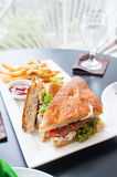 Chicken clubhouse sandwich Royalty Free Stock Image