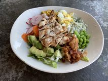Chicken Cobb Salad. With Avocado, Egg and Bacon stock images