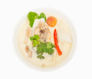 Chicken in coconut milk and galangal. Thai food ,  Chicken in coconut milk and galangal Stock Image