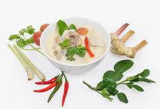 Chicken in coconut milk and galangal. Thai food ,  Chicken in coconut milk and galangal Royalty Free Stock Images