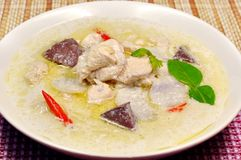 Chicken coconut milk soup Royalty Free Stock Photos