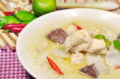 Chicken coconut milk soup Royalty Free Stock Image