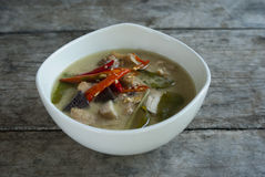 Chicken coconut soup local thaifood. Local Thaifood chicken coconut soup stock photos