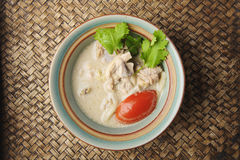 Chicken in coconut soup Stock Image