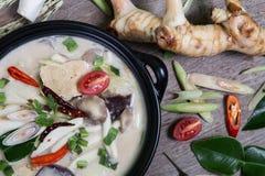 Chicken Coconut Soup (Tum Kha Kai Thai Food) Royalty Free Stock Image