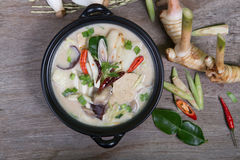 Chicken Coconut Soup Royalty Free Stock Photo