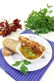 Chicken consomme Stock Photo