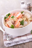Chicken cooked with cream Stock Photos