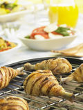 Chicken Cooking On A Grill Stock Images