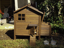 Chicken Coop (Close Up) stock image